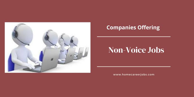 Non Voice Jobs in Chennai for freshers