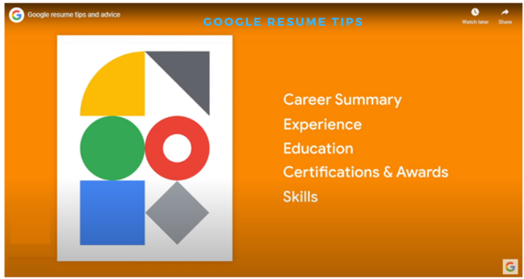 Google interview process resume tips. How to get a job in google